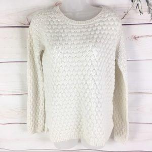 Anthropologie Field Flower Bubble Knit Sweater